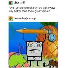 Doodlebob Meme - doodlebob laughing in public while strangers give me weird looks