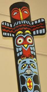 totem poles from paper towel tube use nature of arts non toxic