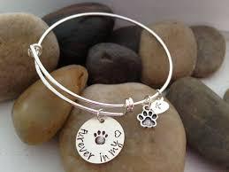 pet memorial gifts dog memorial bangle bracelet adjustable memorial bangle bracelet