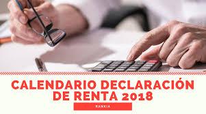 vencimientos renta personas dian 2016 cuáles son las fechas para la declaración de renta 2018 calendario