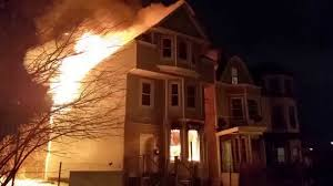 people rescued from newark new jersey house fire youtube