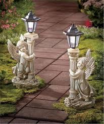 Solar Garden Ornaments Outdoor Decor Angel Outdoor Lights Sacharoff Decoration