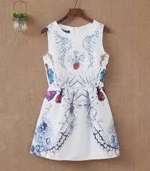 abstract pattern sleeveless dress blingstory korean abstract pattern dress women jacquard shrimp