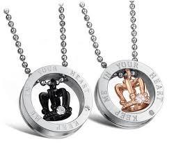 Engraving Necklaces Couple Necklaces U2013 Evermarker