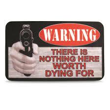 beware of owner doormat 297400 rugs at sportsman u0027s guide