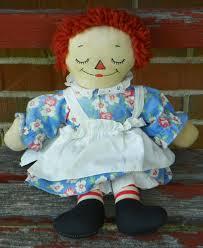 raggedy ann doll georgene awake asleep vintage ca 1934