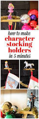 how to make character stocking holders in five minutes