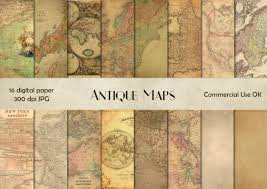 Vintage Maps Antique Maps Digital Paper Vintage Maps Antique Maps Scrapbook