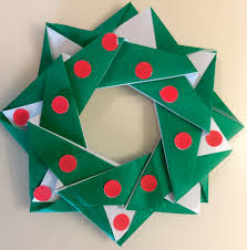 Holiday Wreath Origami For Beginners Holiday Wreath Youtube