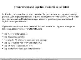 procurement assistant cover letter