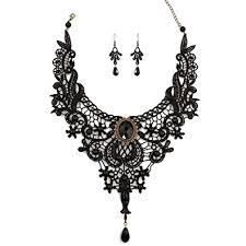 charm necklace choker images Charm l grace black lace gothic lolita pendant choker jpg