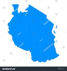 Map Of Tanzania High Detailed Blue Map Tanzania Vector Stock Vector 537475450