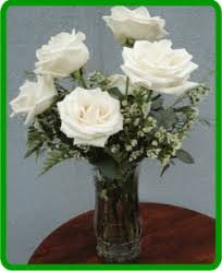 White Roses In A Vase Mother U0027s Day Seaside Flowers