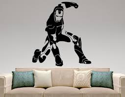 iron man wall decal movie superhero stickers home interior