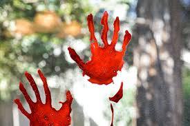 bloody handprint window clings hey let u0027s make stuff