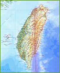 Physical Map Of China by Taiwan Maps Maps Of Taiwan Republic Of China