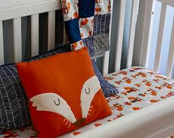 fox crib sheet etsy