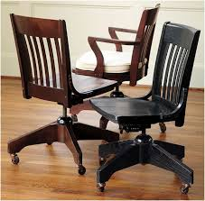 Wood Desk Chair by Wooden Desk Chair For Office In Glossy Black Interior Design Ideas