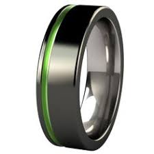 groove culture wedding band mens wedding band black 8mm acid green tungsten ring groove