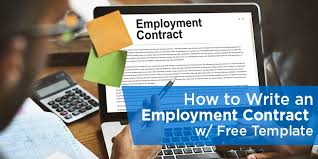 how to write an employment contract with free template