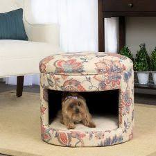 Bed Ottoman Bench Dog Cat Enclosed Bed Ottoman Bench Home Furniture Comfy Pet Animal
