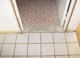 The Honey Do List Guy Replacing Flooring And Doors - Bathroom door threshold 2