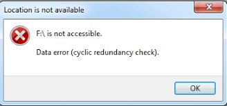 drive not accessible solved drive not accessible data error cyclic redundancy check