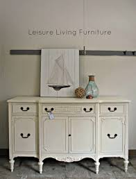 leisure living old white buffet