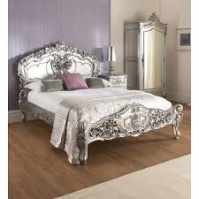 silver bed marvelous la rochelle silver rococo antique french bed