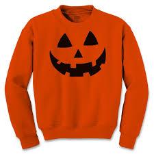 face halloween costume crewneck sweatshirt