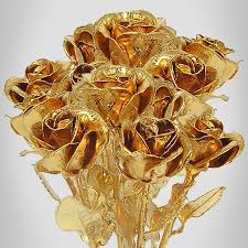 gold roses 8 24k gold plated bouquet 12 roses is a
