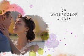 watercolor slideshow after effects template filtergrade