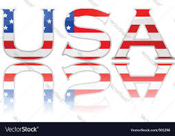 flag in letters usa royalty free vector image vectorstock