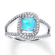 real blue opal engagement rings wedding rings diamonds charms jewelry from