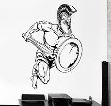 wall sticker sport sparta spartan soldier gladiator warrior z3007