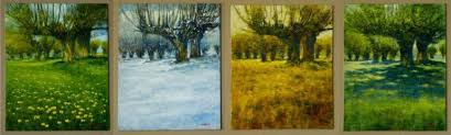 saatchi art 4 paintings 4 seasons the same place painting by