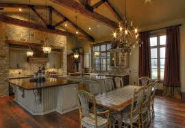 ranch style home interior ranch home rustic kitchen houston by sweetlake interior