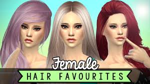 sims 4 hair cc custom content hairstyles females the sims 4 youtube