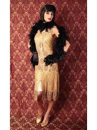 1920 u0027s reproduction gold beaded sheba flapper dress 20s vintage