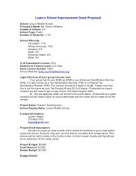 Lowes Resume Example by Grant Proposal Lowes Grant Proposal Grant Proposal Image Titled