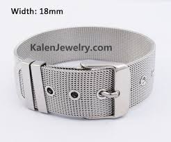 stainless steel buckle bracelet images Silver stainless steel jewelry JPG