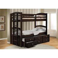 Bunk Bed With Trundle And Drawers Classic Bunk Beds With Trundle Thenextgen Furnitures Diy Bunk