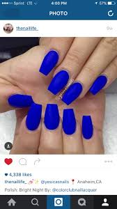 royal blue matte nails pinterest royal blue makeup and prom