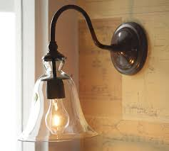 pottery barn lighting sconces rustic style wooden reclaimed lumber wall sconces wall mounted