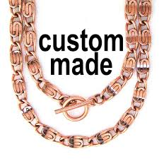 solid copper necklace chain images Men 39 s custom copper necklace celtic scroll chain nc66m 5mm solid jpg