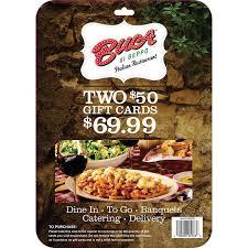 restaurant gift cards half price buca di beppo italian restaurant gift cards 2 50
