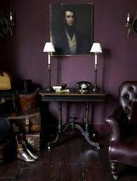 masculine purple dark purple aubergine room with leather chair plum purple