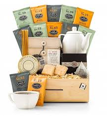 coffee and tea gift baskets leaf tea tasting crate gifttree