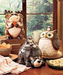 owl kitchen canisters ceramic forest friends kitchen canister owl moose new