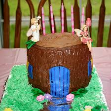 shower of roses a fairy house birthday cake